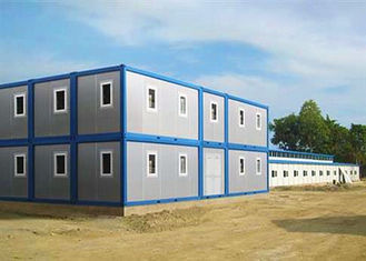 Chiny Dwie historie Modular Container Homes Blue And Grey With One Sliding Window dostawca